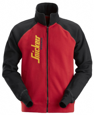 Snickers 2887 Logo Full Zip Jacket (Chili Red / Black)